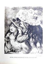 Pierre Auguste Renoir Heliogravure Limited Jeunes Filles Fleurissant 1921