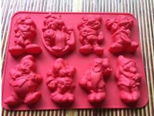 Snow white & Dwarfs Cake Mold Flexible Silicone Mould For Candy Soap Ice tray