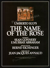THE NAME OF THE ROSE__Original 1986 Trade AD / poster__SEAN CONNERY__Umberto Eco