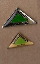 lot de 2 pin's - Grande enseigne Leroy Merlin (2 époxy différents)