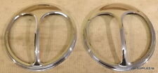 CLASSIC MINI CHROME CATS EYES HEADLAMP COVERS - CE-1 - SOLD AS A PAIR
