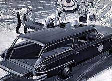 1961 Dodge Dart Wagon, POLICE/CORONER, Refrigerator Magnet, 40 MIL