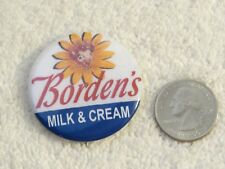 Borden's Cow Milk & Cream Company Advertising Pinback Button 1.75 inch