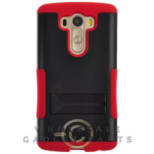 LG G3 Infuse Prime Case Red Cover Shell Shield Protector