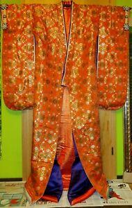 Prächtiger Uchikake, Heian Stil, original aus Japan, reine Seide