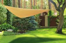 Sonnensegel 3x3x3m Polyester beige inkl. Tragetasche und Abspannseilen