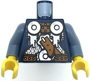 Lego New Dark Blue Minifigure Torsos Viking Armor Castle Pieces