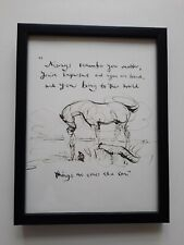 CHARLIE MACKESY FRAMED BOOK EXTRACT.  'THE BOY, THE MOLE, THE FOX AND THE HORSE.