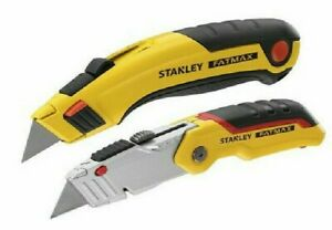 STANLEY FatMax Retractable Knife Twin Pack Brand New Free Postage