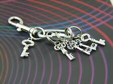 Designer Keychain with Detachable Key rings Key Holder Secure Clip-on KEYS charm