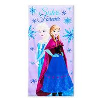 "Disney Frozen Elsa & Anna Kids Girls Beach Towel Pool Bath Cotton 28""X58"" NEW"