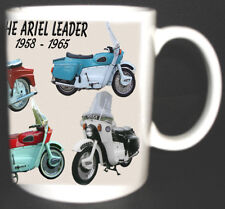 ARIEL LEADER CLASSIC MOTORBIKE MUG LIMITED EDITION NEW. WITH HISTORY ON REVERSE.