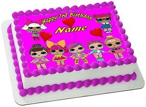 LOL  DOLLS ICING  Edible CAKE TOPPER PARTY IMAGE FROSTING SHEET