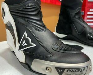 Dainese Axial Boots, Black/White Men's Size 45 Euro/11.5 USA