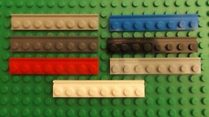 LEGO Plate Modified 1x8 Door Rail 4510 Choose Colour and Quantity You Require