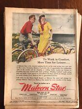 Original Malvern Star bicycles 1940s Vintage Print Advertising Australiana vi
