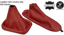 DARK RED REAL LEATHER GEAR & HANDBRAKE GAITER FOR ALFA ROMEO GIULIETTA 2010-2017