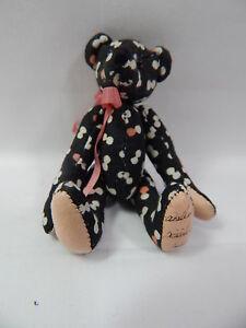 """World of Miniature Bears By Theresa Yang 3"""" Fabric Pin Bear #490-13 CLOSING"""