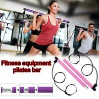 Portable Pilates Bar Stick Fitness Exercise Bar Yoga Stick Resistance Band Tool