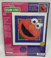 "*SESAME STREET #68-37 Elmo 10"" x 10"" Cross Stitch Kit - Great for Beginners! NEW"