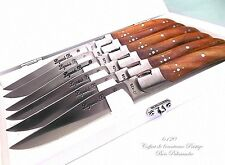 LAGUIOLE 6 Steak knives,cutlery set,dinner knives.kitchen knives.1 piece shaft