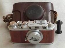 Leica II D Olympia 1936 copy chrome-wood in leather case (FED-Zorki copy)