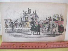 Vintage Print,HOW TO DINE,Al Fresco,London,1840,Ackerman