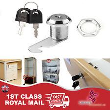 Cam Lock Door Cabinet Mailbox Drawer Cupboard 16mm 20mm or  + 2Keys New LOCKER