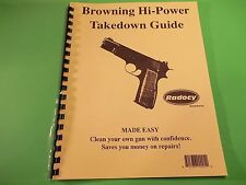 TAKEDOWN MANUAL GUIDE for BROWNING HI POWER PISTOL, seven pages of information