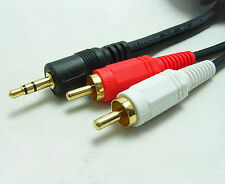1.3M Y 3.5mm Male Plug to Dual 2 RCA Jack Cable Stereo PC Audio Splitter Aux