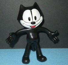 "Felix The Cat Bendable Posable Figure Black & White Pvc 5"""