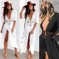 Womens Lace Crochet Bikini Beachwear Cover Up Beach Dress Summer Bathing Suit