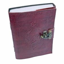 Book Of Shadows Leather Pentagram 20cm High 110 Pages Journal Diary Nemesis Now