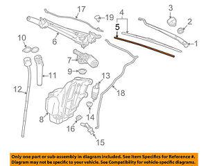 GM OEM Wiper Washer-Windshield-Wiper Blade Insert Left 25892081