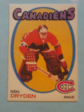 "1971-72 OPC Reprint # 45 Ken Dryden (Montreal Canadiens) ""Novelty"" Rookie Card!"