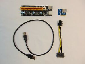Riser Card USB 3.0 PCI-E 1X to 16X SATA 15 Pin Graphics Card Slot Expander