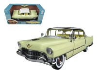 1/18 Greenlight 1955 Cadillac Fleetwood Series 60 & White Top Model Yellow 12937