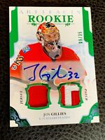 2017-18 Upper Deck Artifacts Rookie Jon Gillies Canada Flag Patch Auto