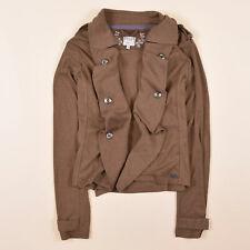 Soccx Damen Cardigan Pullover Sweater Gr.40 Strickjacke Braun, 66735