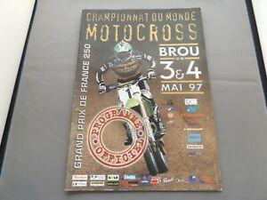 1997 MOTOCROSS PROGRAMME 4/5/97 - FRENCH 250cc GRAND PRIX - BROU