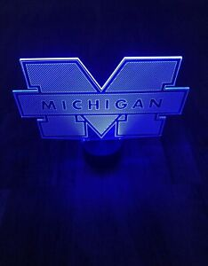3D Michigan Sports Color Led Light