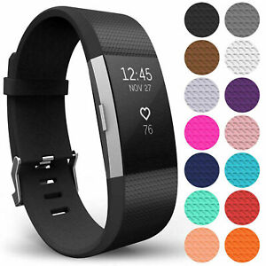 For Fitbit Charge 2 3 4 Silicone Wristband Band Replacement Watch Wrist Strap ^