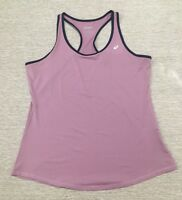 Asics Women's Emma Singlet Racerback Running Tank Top Sz L Purple/Blue D3-40-42
