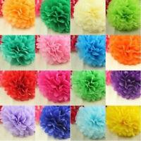 ES_ 5pcs Tissue Paper Pom Poms Wedding Pompoms Party Flower Decor - 6'8'10'12 Gl