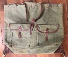 Vintage 1960 Swiss Back Pack Rucksack (Leather canvas) With Detachable Liner