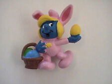 Vintage Smurfette Pink Easter Bunny Suit smurfs 1982 Peyo Made in Portugal
