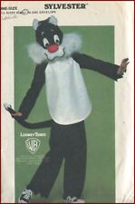 1970s Vintage Sylvester Cat 2 Piece Halloween Costume Sewing Pattern Child Large