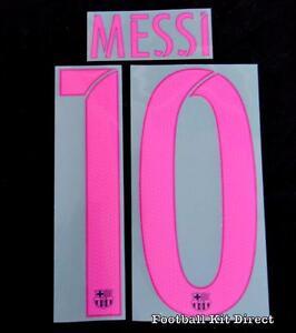 Official Barcelona Messi 10 2016-17 Football Shirt Name/Number Set  Adult Away