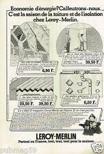 Publicité advertising 1979 Les Magasins Bricolage Leroy Merlin