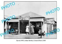 OLD LARGE PHOTO BYROCK NSW BARTLEYS GENERAL STORE SHELL OIL